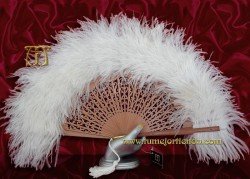 Abanico de plumas, Mod. EMPERATRIZ