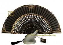 Abanico madrina, Mod. 12168-N-Oro