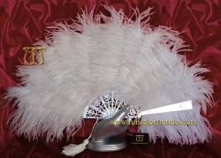 Abanico nacarina y plumas, Mod. ANTARES