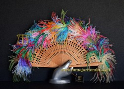 Abanico de plumas, Mod. KOREN
