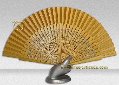 Abanico boda Dorado, Ref. 25001-D